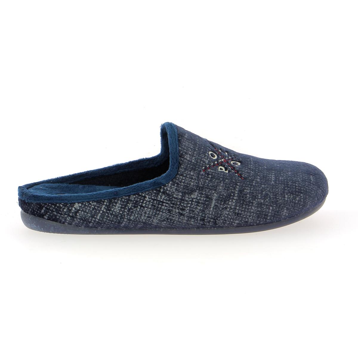 Cypres Pantoffels blauw